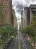 Uit het stadscentrum Manhattan Stock Foto's