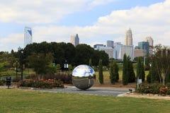 Uit het stadscentrum Park in Charlotte, Noord-Carolina Stock Afbeeldingen