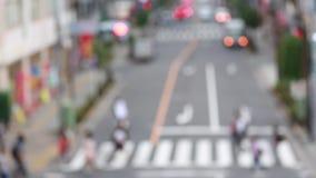 Uit nadruk unfocused de achtergrond met onscherp stadslichten Tokyo, Japan stock footage