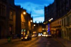 Uit nadrukbeeld van Edinburgh bij nacht Stock Afbeelding