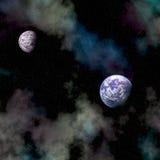 Uit ruimte royalty-vrije stock fotografie