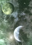 Uit ruimte royalty-vrije stock afbeelding