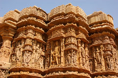 Uit Zijaanzicht van een Indische tempel. royalty-vrije stock afbeeldingen