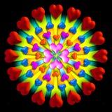 Uitbarsting 2 van het hart stock illustratie
