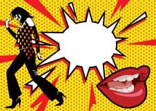 Uitbarsting 2 van het pop-art Royalty-vrije Stock Foto