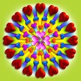 Uitbarsting 4 van het hart Royalty-vrije Stock Afbeeldingen