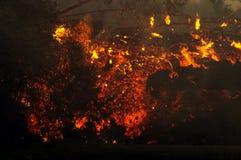 Uitbarsting op eiland 3 van de Bijeenkomst Stock Foto