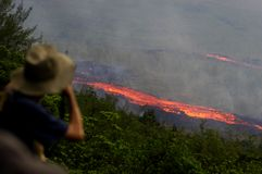 Uitbarsting op eiland 5 van de Bijeenkomst Royalty-vrije Stock Foto's