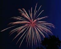 Uitbarsting 3 van het vuurwerk Stock Foto's