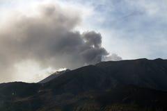 Uitbarsting van Onderstel Etna Stock Foto