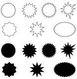 Uitbarsting-zwarte en wit Royalty-vrije Stock Afbeelding