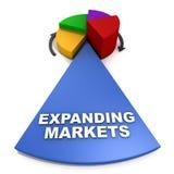 Uitbreidende markten royalty-vrije illustratie