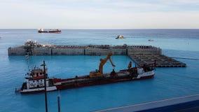Uitbreiding van Monaco in de Middellandse Zee stock video