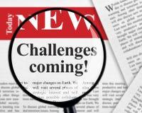 Uitdagingen komst royalty-vrije stock afbeeldingen
