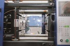 Uitdrijving productielijn - de extruder, sluit omhoog stock foto