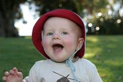 Uitdrukkingen die van de baby - de lachen stock foto
