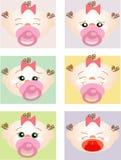 Uitdrukkingen van een jonge baby Royalty-vrije Stock Fotografie