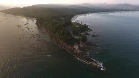 Uiteinde van Borneo stock footage