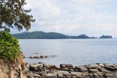 Uiteinde van Borneo, Simpang Mengayau, Sabah, Maleisië Stock Fotografie
