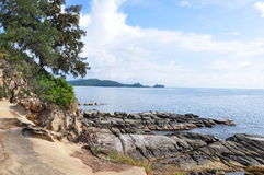 Uiteinde van Borneo, Simpang Mengayau, Sabah, Maleisië Royalty-vrije Stock Foto