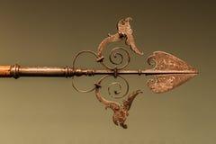 Uiteinde van overladen zilveren spear Stock Afbeelding