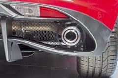 Uiteinde van sportenraceauto Stock Foto's