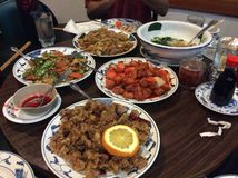 Uiteindelijk Chinees Voedsel om Uw Tastebuds te kwellen Royalty-vrije Stock Fotografie
