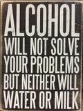Uiteinden over alcohol royalty-vrije stock afbeeldingen