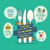 Uiteinden voor het verliezen van de illustratie van het gewichtsconcept stock illustratie