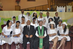 Uitenhage congregational Church. The Uitenhage Congregational Church has confirmed twenty new members as brothers and sisters of the church.this was part of the Stock Photo