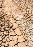 Uiterst droge modder Stock Afbeelding