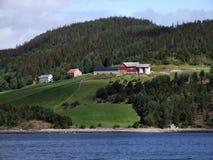 Uiterst klein dorp in Scandinavië Royalty-vrije Stock Fotografie