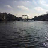 Uiterst kleine Brug in Amsterdam royalty-vrije stock foto's