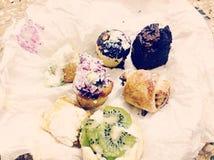 Uiterst kleine Desserts Stock Afbeelding