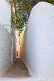 Uiterst kleine gangwegen in Grieks eiland Hydra royalty-vrije stock fotografie
