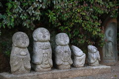 Uiterst kleine Jizo-Standbeelden Royalty-vrije Stock Afbeelding