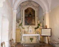 Uiterst kleine kapel gewijd aan de legende op de komst van Saint Paul aan Galatina royalty-vrije stock afbeeldingen