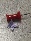 Uiterst kleine origamivlinder Royalty-vrije Stock Afbeelding