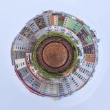 Uiterst kleine planeetarchitectuur Stock Foto