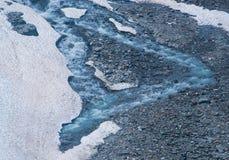 Uiterst kleine rivier van gesmolten ijsberg Stock Foto