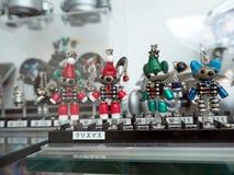 Uiterst kleine stuk speelgoed robots Royalty-vrije Stock Foto