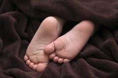 Pasgeboren babyvoeten royalty-vrije stock foto