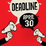 Uiterste termijn - 30 April stock illustratie
