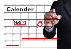 Uiterste termijn Job Work Events Planner Organizer Stock Afbeeldingen