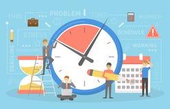 Uiterste termijnconcept Idee van velen het werk en weinig tijd vector illustratie