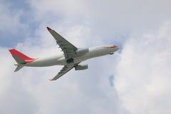 Uitgaand commercieel vliegtuig royalty-vrije stock afbeelding