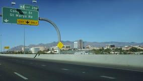 Uitgang aan Van de binnenstad, Tucson, AZ royalty-vrije stock afbeeldingen