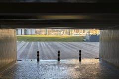 Uitgang van de donkere tunnel Royalty-vrije Stock Foto