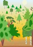 Uitgang van hout vector illustratie