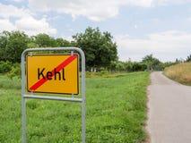 Uitgangseind van de stad van Kehl, Duitsland Royalty-vrije Stock Afbeeldingen